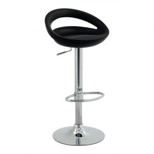 Tabouret de bar noir design et confortable BARRY