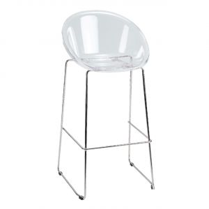 Tabouret haut design transparent LIVIA