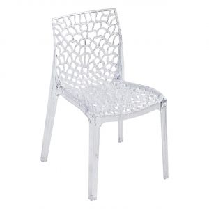 Chaise transparente design empilable LEA