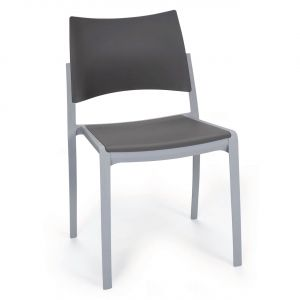 Chaise de réunion empilable design en plastique KOBI